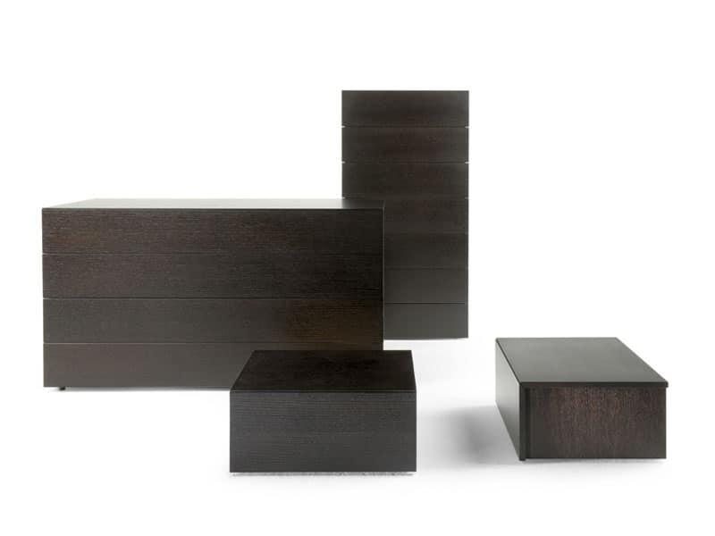 Cassettone per camere da letto in legno laccato lucido idfdesign - Cassettiere per camere da letto ...