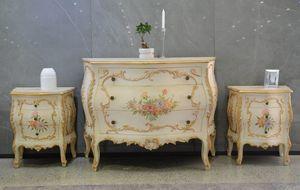 Art. 621, Comò e comodini outlet, in stile provenzale floreale