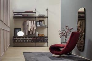 HONEY, Cassettiera personalizzabile, in legno e vetro