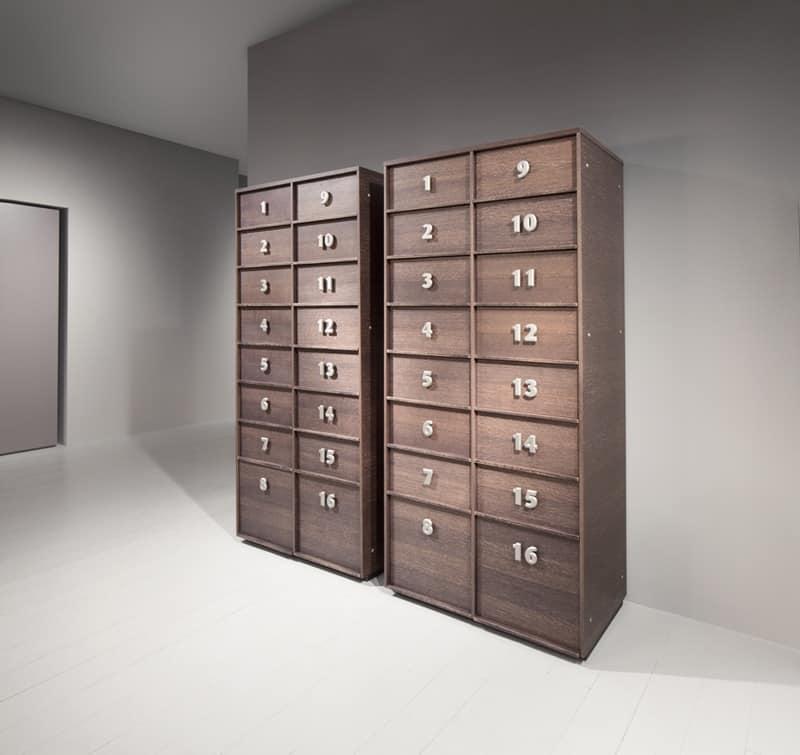 Mobile con cassetti numerati per l 39 ufficio e la casa for Mobile con chiave per ufficio