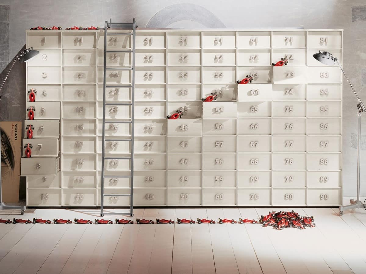 Contenitore componibile a cassetti per la casa e ufficio for Cassettiere design per ufficio