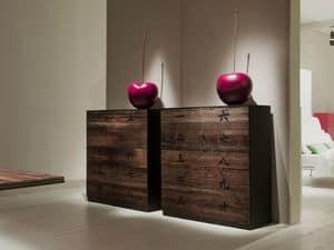 XIAN comp.03, Madia stile orientale per la casa, madia in legno per la casa