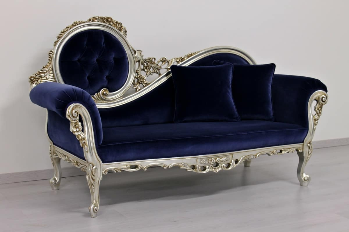 Chaise longue in stile rococo idfdesign for Chaise longue tours