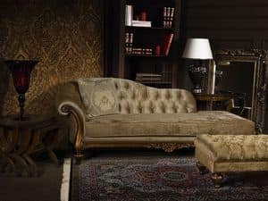 ATENA chaise longue 8556L, Chaise longue imbottita in poliuretano, capitonn�, per hall