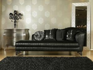 BETSY chaise longue 8551L, Chaise longue classica di lusso, varie finiture, per uffici
