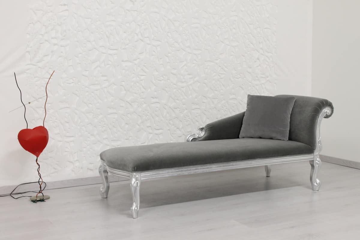 chaise longue con struttura in legno massello di faggio idfdesign. Black Bedroom Furniture Sets. Home Design Ideas