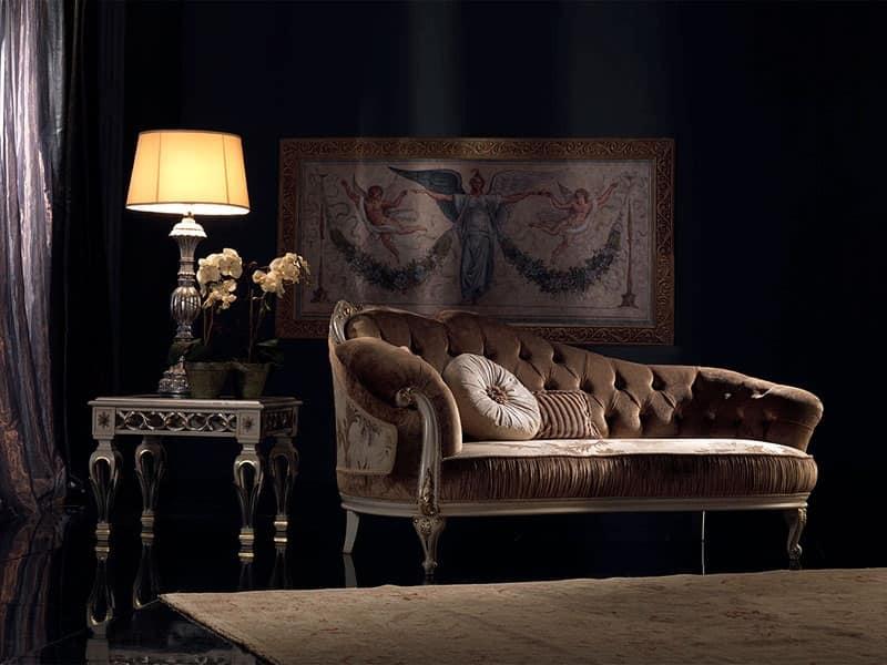 Paolina, Chaise longue classico di lusso, capitonnè, per reception
