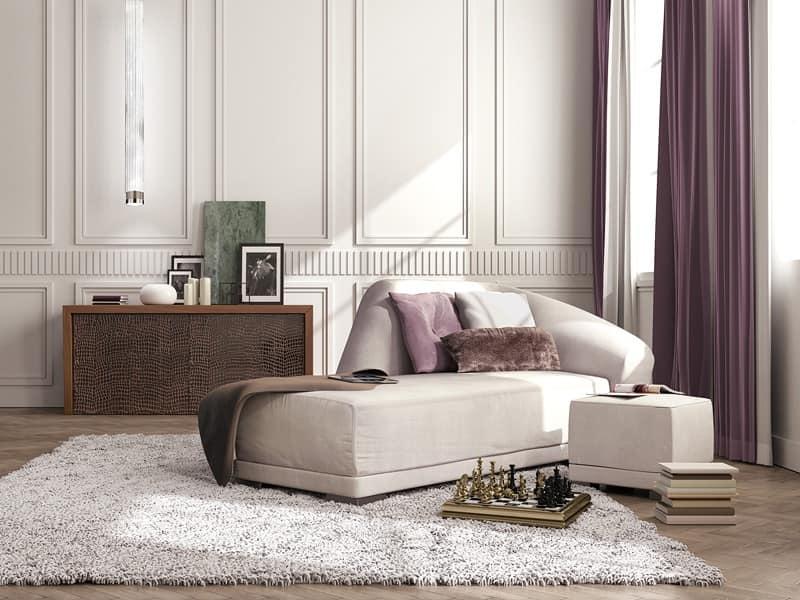 chaise longue di lusso stile classico contemporaneo idfdesign. Black Bedroom Furniture Sets. Home Design Ideas