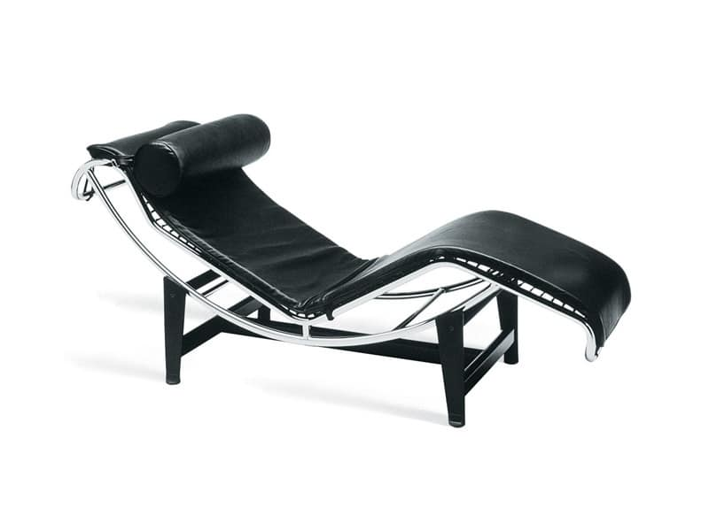 Chaise longue comoda struttura in acciaio cromato idfdesign for Chaise longue tours