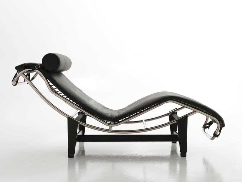 Chaise Longue Ufficio.Chaise Longue Basculante Design In Pelle Per Ufficio