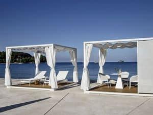Pavilion, Gazebo in metallo, per giardini e piscine