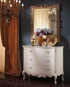 3515 COMO', Comò bianco classico di lusso ideale per camere da letto