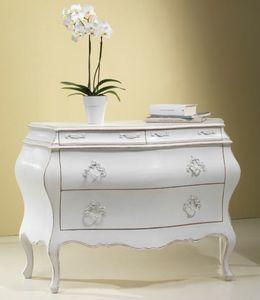 Art. 20936, Comò classico, in legno bianco