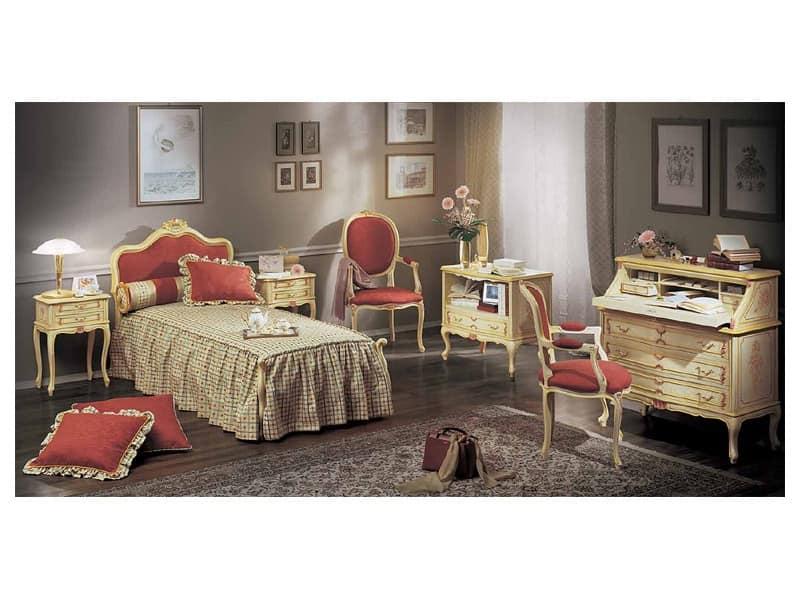 Art 3102 com lavorati in stile classico camere for Bellotti arredamenti