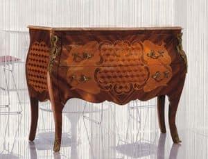 Art. 338, Comò in legno decorato per camere in stile classico