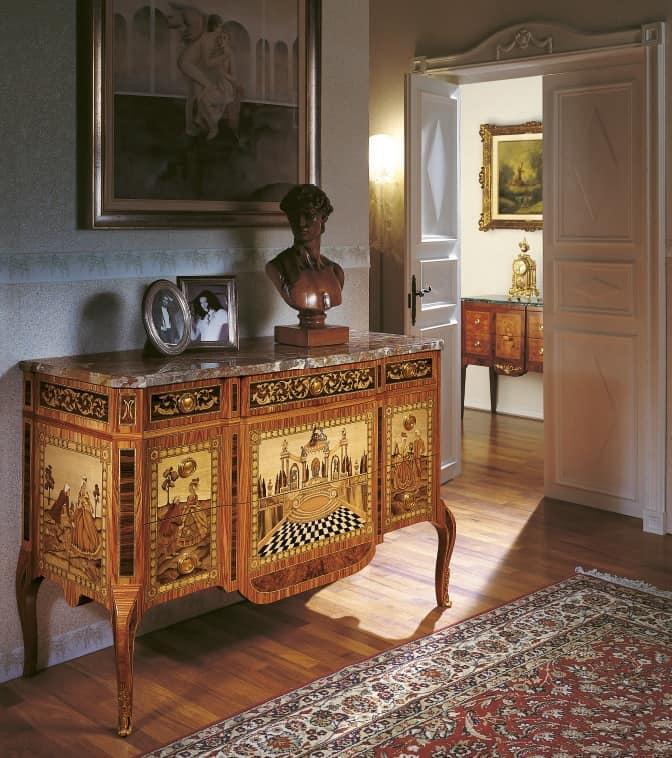 Com classico di lusso con intarsi per sale d 39 ingresso - Mobile per ingresso classico ...