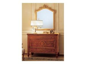 Art. 925 comò '700 Italiano Maggiolini, Mobile da camera, con cassetti intarsiati, stile classico