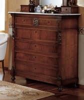 cassettoni classici in legno decorato per zona notte