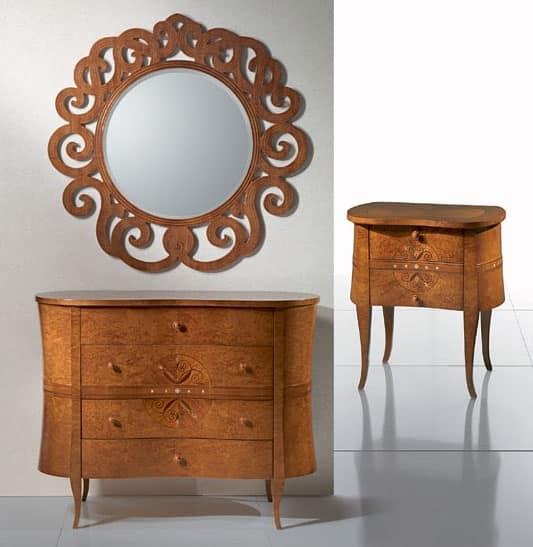 Com classico in legno linee ondulate per ville idfdesign for Ville stile classico