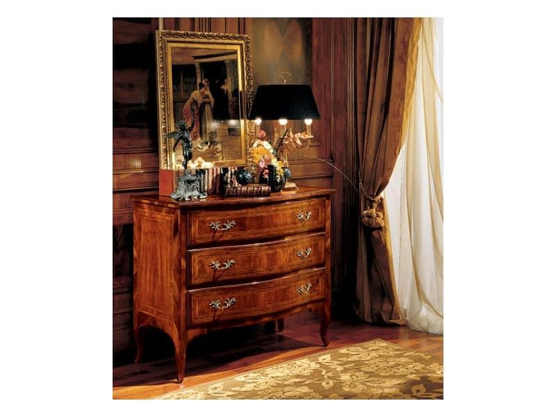 Gardenia comò 822, Comò classico di lusso per camera da letto