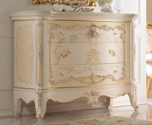 Com laccato a mano con decorazioni in oro idfdesign for Decorazioni adesive per mobili