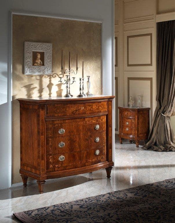 Com in noce con piano in marmo botticino idfdesign for Prezzi del piano