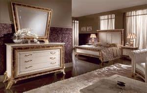 Raffaello comò, Comò a tre cassetti, decorazioni eseguite artigianalmente, adatto per camere dallo stile classico