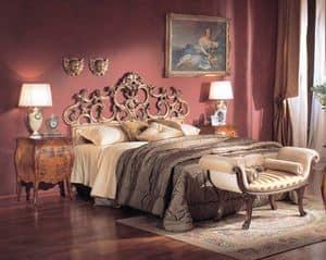 3245 COMODINO, Comodino classico di lusso, con 2 cassetti, per alberghi