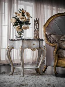 Art. 0146, Comodino intagliato, stile classico, con piano in marmo