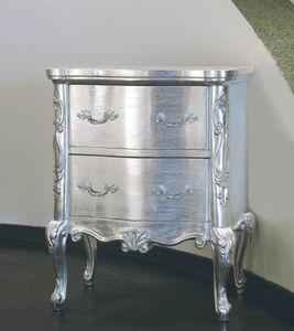 Art. 20508, Comodino classico, finitura argento
