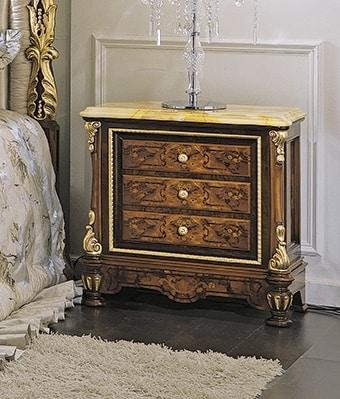 ART. 3036, Comodino classico con piano in marmo giallo