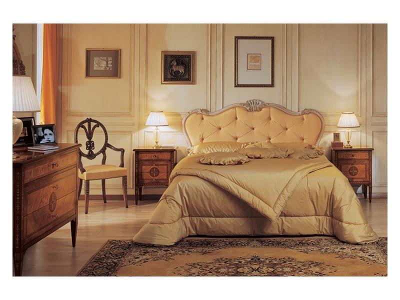 Comodini in stile a tre cassetti per hotel ed alberghi idfdesign - Camere da letto stile antico ...