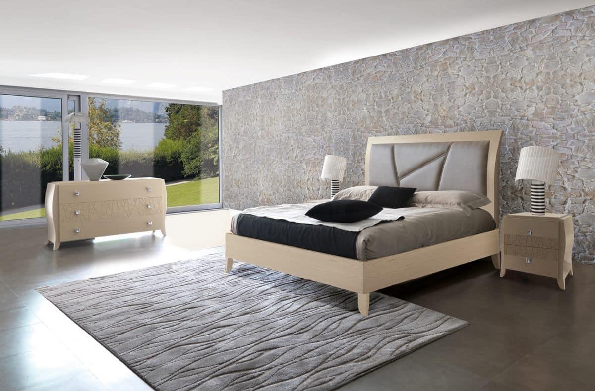 Camera da letto contemporanea noce: camere da letto moderne noce ...