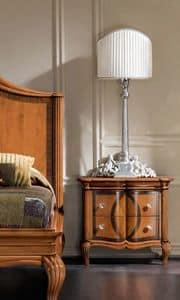Bourbon Art. 22.426, Comodino con intarsi e intagli in  stile classici, per hotel