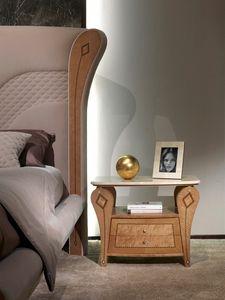 CD29B Charme, Comodino con piano marmo, stile classico