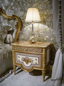Comodino 3704 STILE LUIGI XVI, Comodino classico di lusso