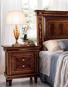 Modigliani comodino, Comodino in legno, stile impero