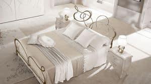 Gaud� comodino, Comodino destro e sinistro in legno, per alberghi eleganti