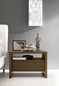 Nordik comodino, Comodino design, con cassetti con guide Blumotion