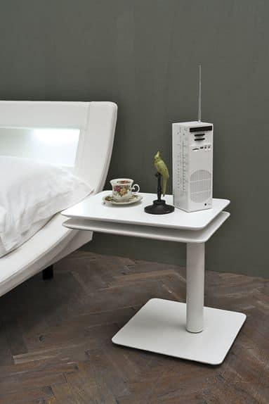 Comodino Moderno Lineare Narciso Cantori : Comodini in metallo trasformabili per camere da letto