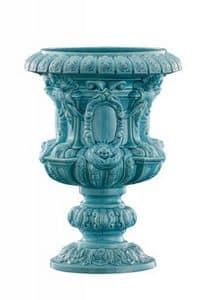 Art. CB253, Vaso impero, con decori floreali