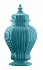 Art. CB274, Vaso con base esagonale e coperchio
