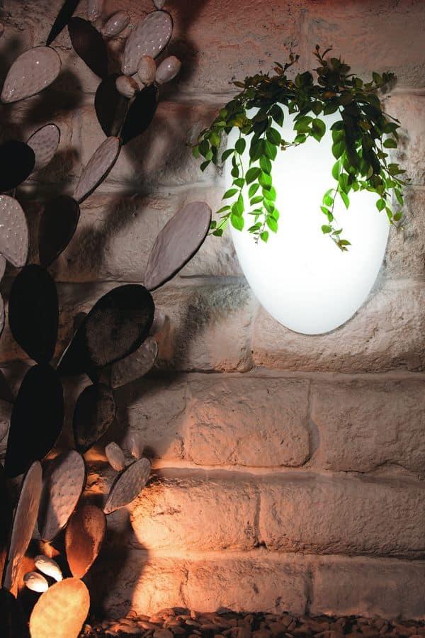 Cozumel portavaso portavaso da parete in plastica illuminabile idfdesign - Portavaso da parete ...