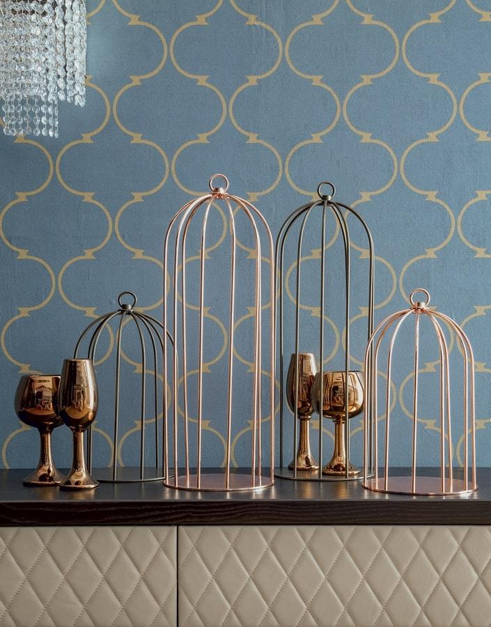 GRID, Gabbietta decorativa in metallo