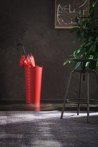 Umbrella, Portaombrelli in cuoio rosso, disponibile in altre colorazioni