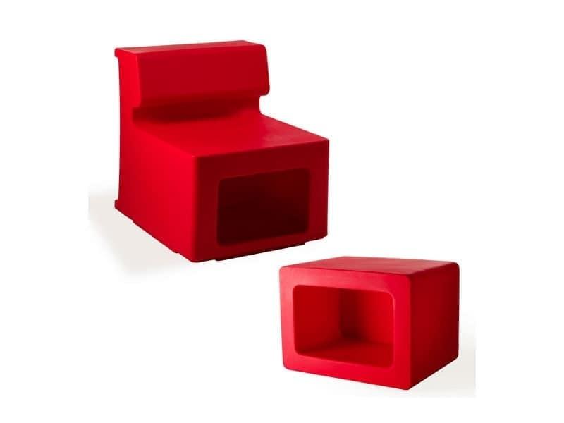 Vasò, Elemento versatile usabile come tavolino, portariviste, pouf e vaso