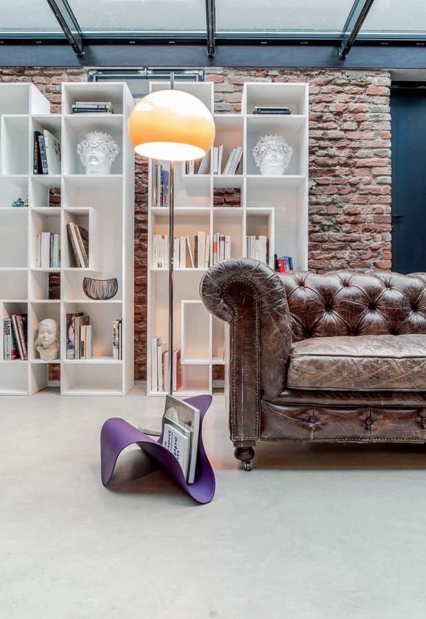 Porta riviste in metallo curvato e pelle per casa e for Riviste design casa