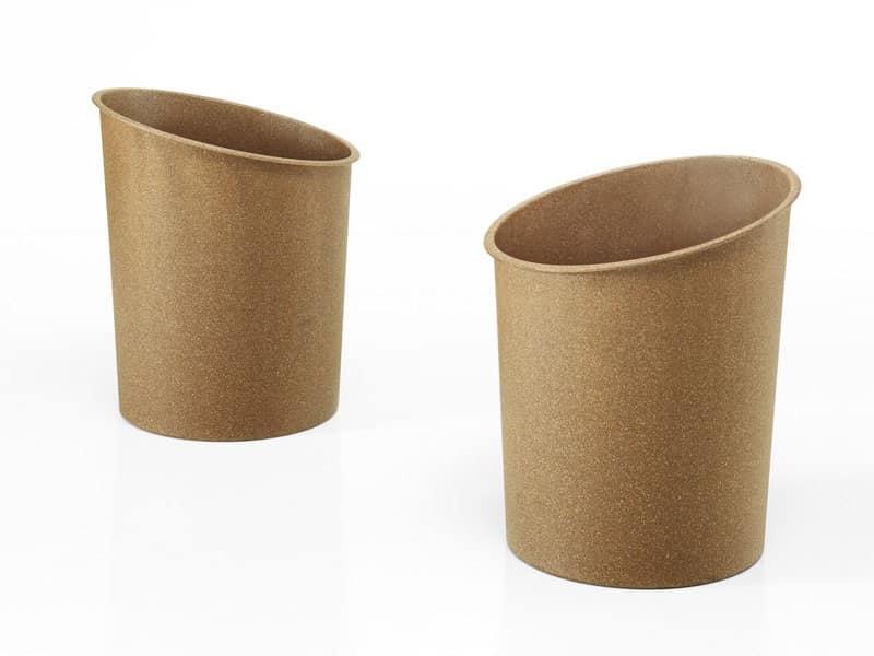 Hi-Tech eco, Cestino impilabile in fibra di legno reciclata