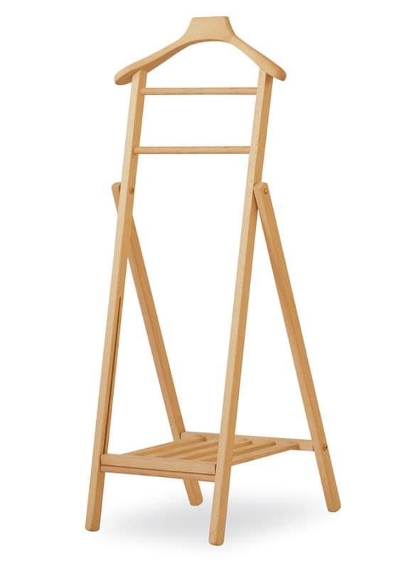 Portabiti pieghevole in faggio per appartamento idfdesign - Portabiti in legno ...