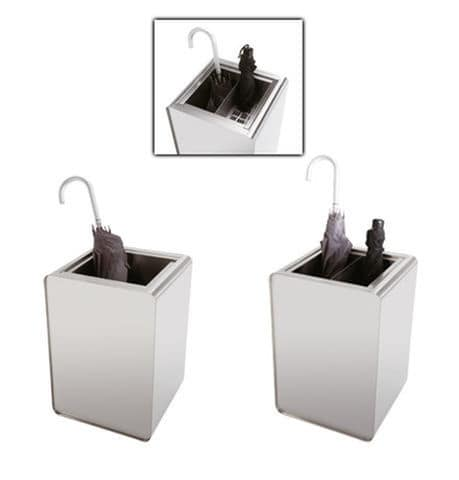 Prisma, Accessori in acciaio utilizzabili come portaombrelli, cestini o fiorerie